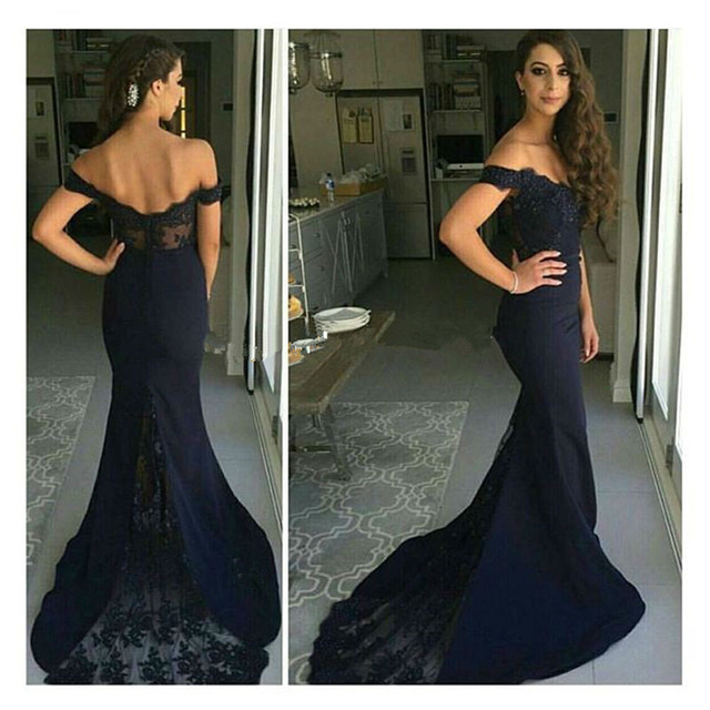 Prom Dresses,Navy Blue Mermaid Prom Dress,Long Prom Dress 2016 ...