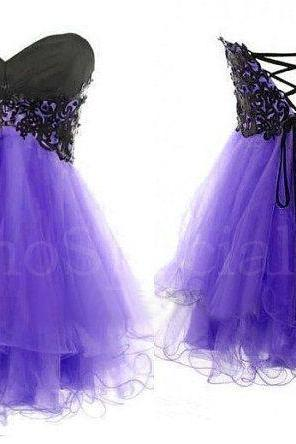 Lace Ball Gown Sweetheart Mini Prom Dress,Homecoming Dress,Graduation Dress,Formal Dress