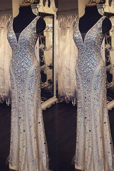 Champagne Prom Dresses,Tulle Prom Dress,Sexy Prom Dress,Mermaid Prom Dresses,2016 Formal Gown,Sparkle Evening Gowns,Sparkly Formal Dress,2016 Prom Gown For Teen