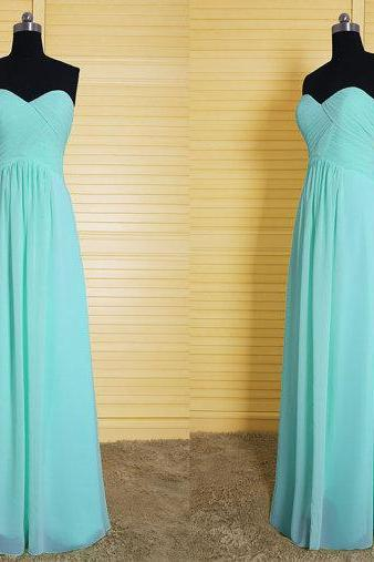 2016 Bridesmaid Gown,Pretty Prom Dresses,Chiffon Prom Gown,Simple Bridesmaid Dress,Sweetheart Bridesmaid Dress,Cheap Evening Dresses,Fall Wedding Gowns,2016 Bridesmaid Gowns