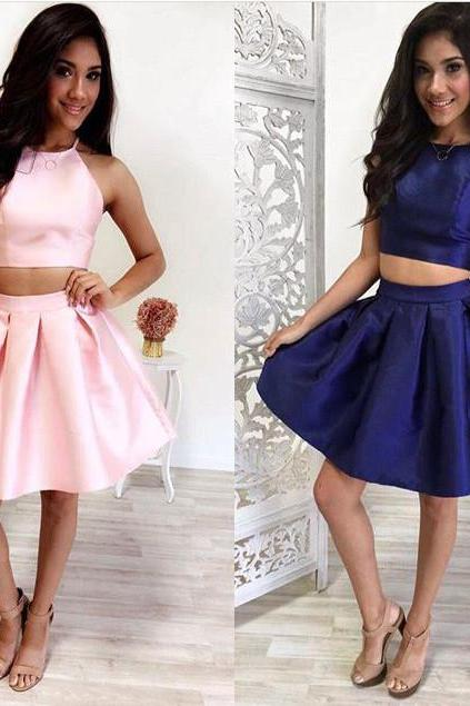 Homecoming Dresses, Short Prom Dress, Prom dress, Two pieces, Cute Homecoming dresses
