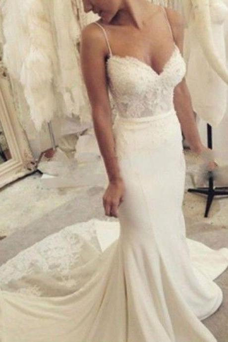 High Quality Custom Made Wedding Dresses,Sexy Mermaid Wedding Dresses,Lace Wedding Dress 2016,Birdal Gowns