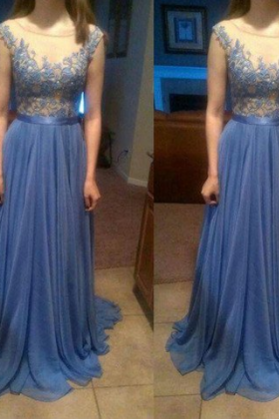 New Arrival Prom Dress,Long Prom Dresses,Cheap Prom Dresses,Lace Evening Dress,Blue Prom Gowns,Women Dress