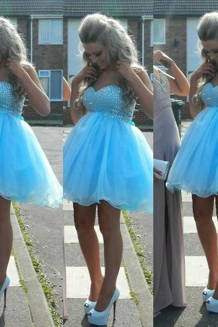 Short Homecoming Dress,New Arrival Blue Corset Homecoming Dresses Off-Shoulder Tulle Plus Size 8th Grade Graduation Dresses