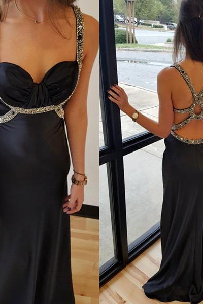 Spaghetti Straps A-line Long Chiffon Prom Dresses Floor Length Party Dresses Custom Made Women Dresses