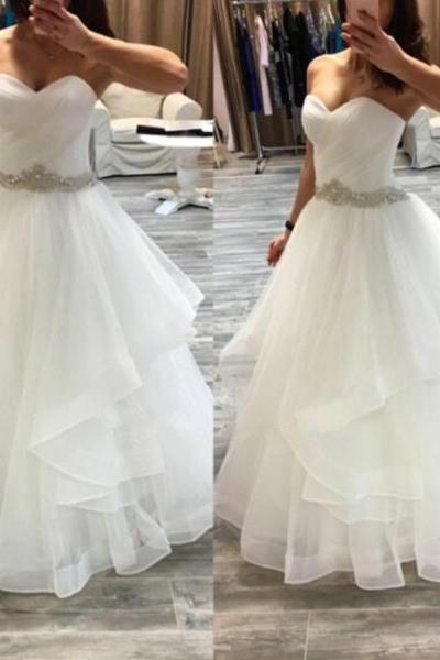 Long Prom Dresses,Cheap Prom Dresses, Evening Dress,white Prom Gowns,ball gown Women Dresses