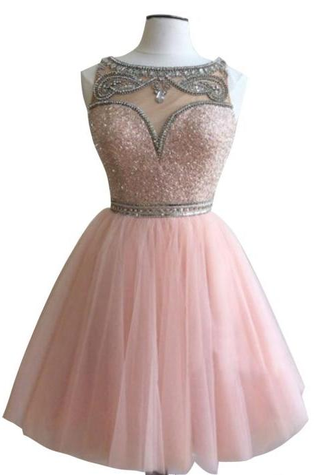 Short Homecoming Dress,Pink Homecoming Dress,Homecoming Dresses,Short Prom Dress