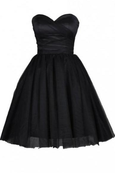Short Homecoming Dress,Tulle Homecoming Dress,Black Homecoming Dresses,Short Prom Dress