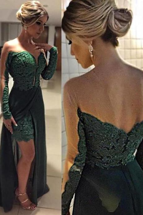 Prom Dress,Green Prom Dress,Long Prom Dress,Evening Formal Dress