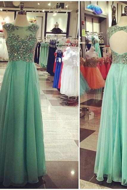 Charming Prom Dress,Long Prom Dresses, Chiffon Evening Dress,Evening Gown,Prom Dresses
