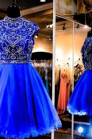 Charming Prom Dress,New Prom Dress, Royal Blue Homecoming Dress,Prom Gown,Short Party Dress