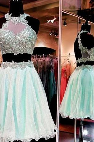 Charming Prom Dress,New Prom Dress,2 pieces Homecoming Dress,Prom Gown,Short Party Dress