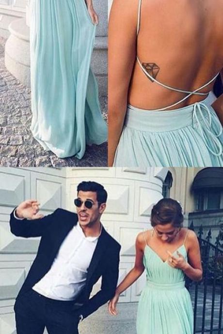 Modest Prom Dress,New Style Prom Dress,Backless Prom Dresses,Mint Evening Dress,Sexy Evening Dresses,Charming Prom Gowns
