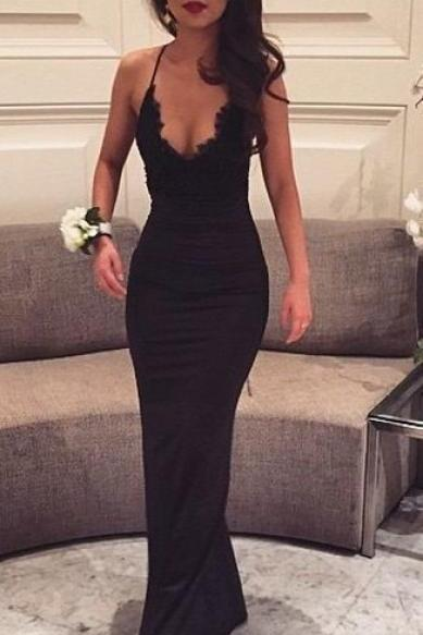 2016 New Fashion Mermaid Prom Dresses,Black Prom Dresses, V neck Prom Dress,Sexy Evening Dress,Woman Evening Dress, Sexy Black Lace Prom Gowns,Charming Prom Dress