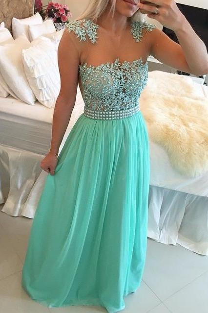 New Arrival Sexy Prom Dress,Cap Sleeves Floor Length Long Party Dress with Pearls Sheer Back 2016 Prom Gown