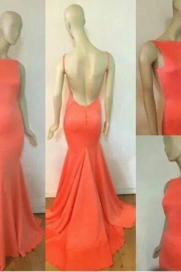 New Arrival Sexy Prom Dress Backless Mermaid Prom Party Dress Evening Gown