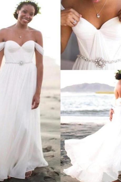 Sexy Off Shoulder Beach Wedding Dresses,Cheap Bridal Gowns,Cheap Wedding Dresses,Bridal Wedding Dress