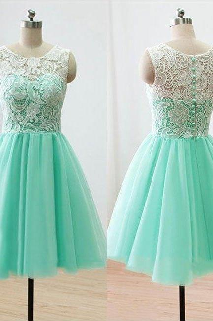 Charming Prom Dress,Green Prom Dress,Cute Lovely Prom Gown,Short Homecoming Dress